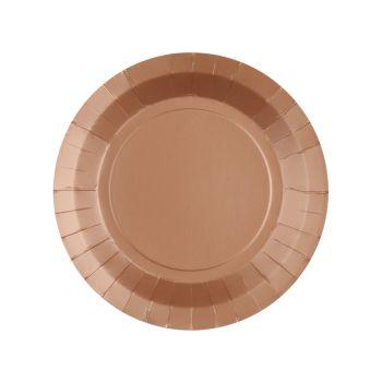 10 petites assiettes rondes compostables rainbow bronze