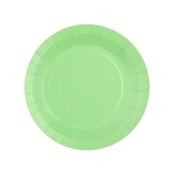 10 petites assiettes rondes compostables rainbow mint