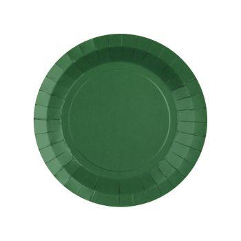 10 petites assiettes rondes compostables rainbow vert foncé