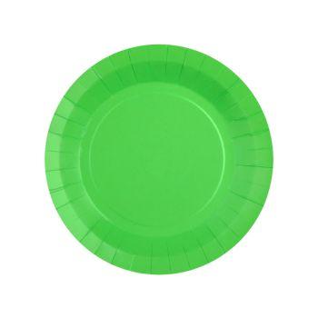 10 petites assiettes rondes compostables rainbow vert
