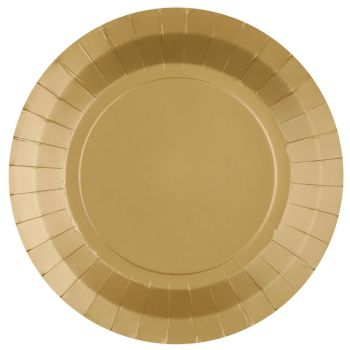 10 assiettes rondes compostables rainbow or