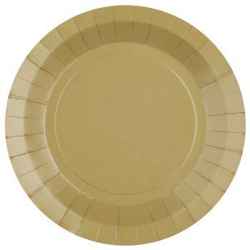 10 assiettes rondes compostables rainbow naturel