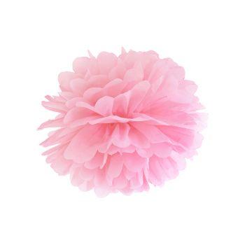 Pompon en papier rose Ø35cm