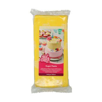 Pâte à sucre Funcakes jaune 1Kg