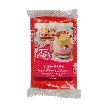 Pâte à sucre funcakes rouge