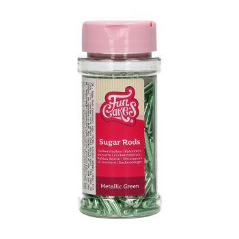 Sugar rods XL métallique vert Funcakes 70gr