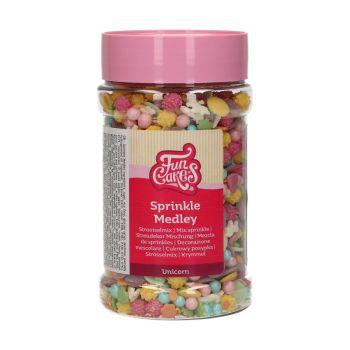 Mix confettis en sucre licorne Funcakes 180gr