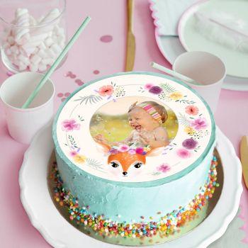 Disque sucre pour gâteau personnalisé Ma biche