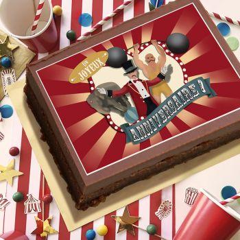 Décor sucre cirque vintage JA A3