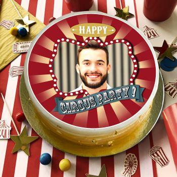 Disque sucre pour gâteau personnalisé cirque vintage