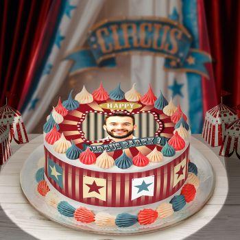 Kit Easycake pour gâteau personnalisé cirque vintage