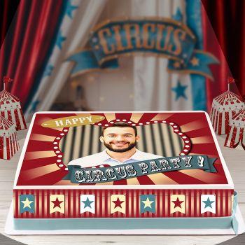 Kit Easycake pour gâteau personnalisé cirque vintage A4