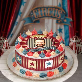 Kit Easycake pour gâteau personnalisé cirque vintage JA