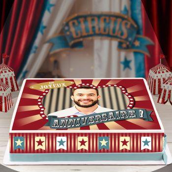 Kit Easycake pour gâteau personnalisé cirque vintage A4 JA