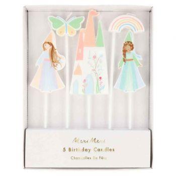 Kit 5 bougies magical Princesse