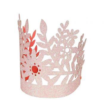 8 couronnes fleuri pailleté