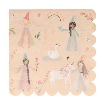 16 Serviettes Princesses ecofriendly