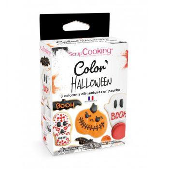 Kit 3 colorants alimentaire en poudre Halloween Scrapcooking