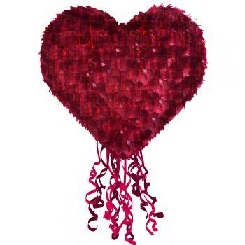 Pinata pull coeur rouge