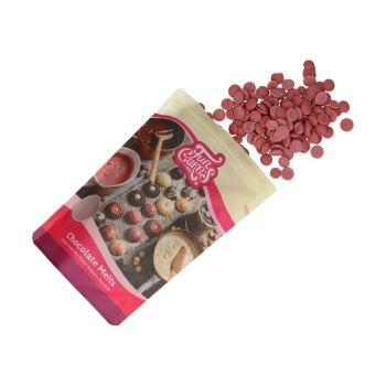 Galets de chocolat blanc rubis Funcakes 250gr