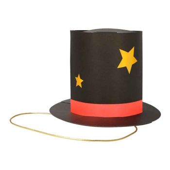 8 chapeaux de fête magicien