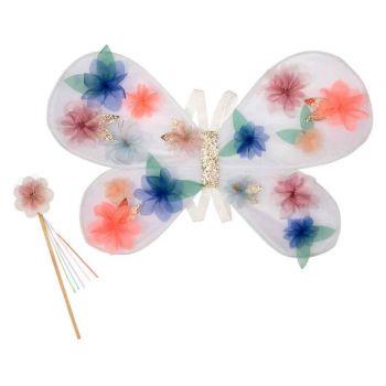 Ailes fleuris en organza
