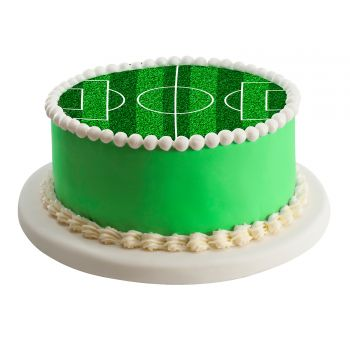 Disque en sucre terrain de football 16cm