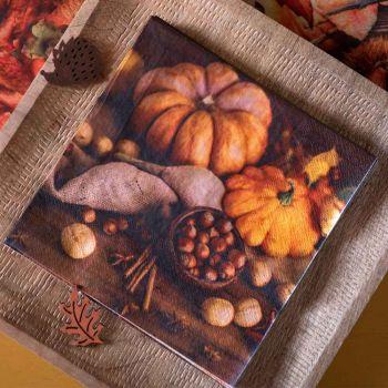 20 Serviettes couleur automne