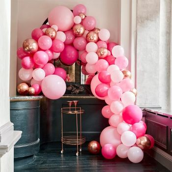 Kit arche luxe de 200 ballons rose and gold