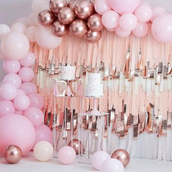 Kit arche luxe de 200 ballons pink and gold rose