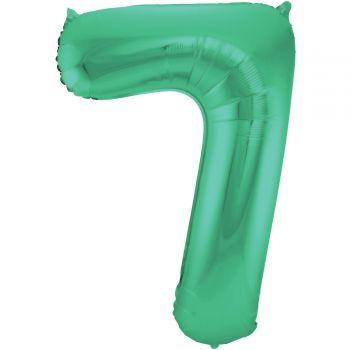 Ballon géant chiffre vert métallisé N°7 86cm