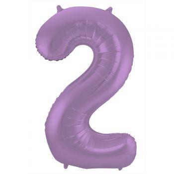 Ballon géant chiffre violet mat N°2 86cm
