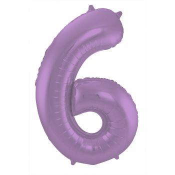Ballon géant chiffre violet mat N°6 86cm