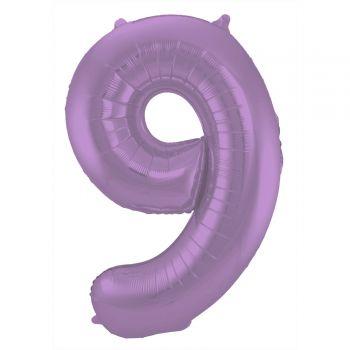 Ballon géant chiffre violet mat N°9 86cm