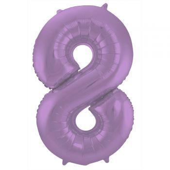 Ballon géant chiffre violet mat N°8 86cm