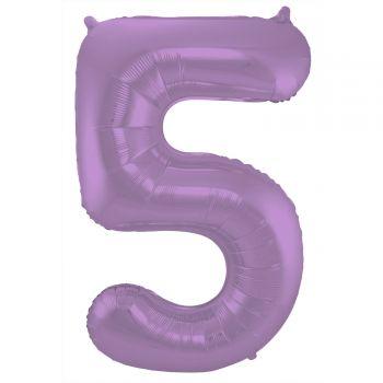 Ballon géant chiffre violet mat N°5 86cm
