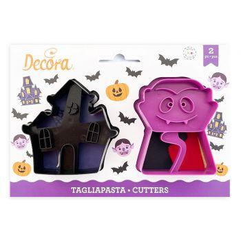2 Emportes pièce biscuit vampire et manoir