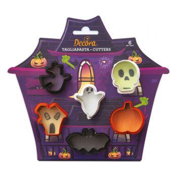 6 Mini Emportes pièces biscuit Halloween