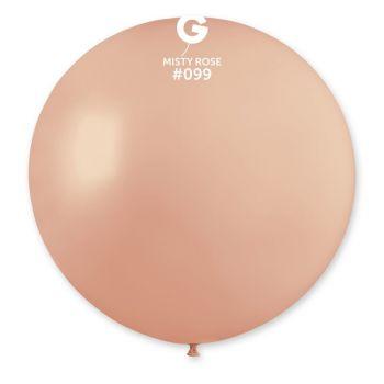1 Ballon géant misty rose Ø80cm