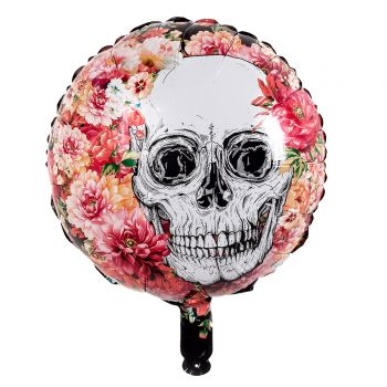 Ballons helium skull flower halloween