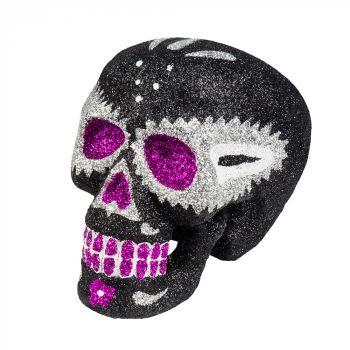 Crâne mexicain pailleté