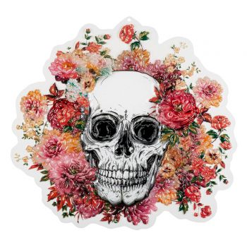 Décoration PVC skull flower halloween