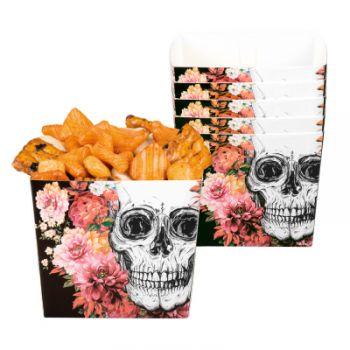 6 boites pop corn skull flower halloween