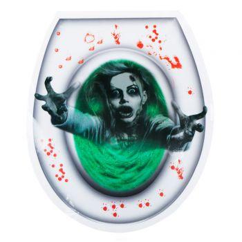 Autocollant de toilette fantôme Halloween