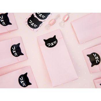 6 sachets papier tête chat