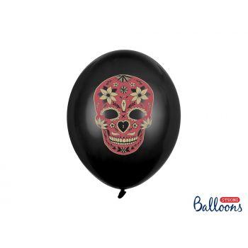 6 Ballons Dia de los muertos noir