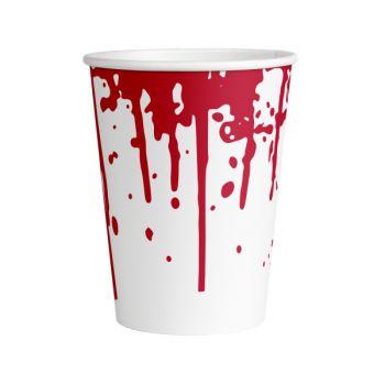 8 Gobelets blood Halloween 26cl