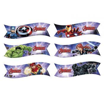 6 drapeaux azyme Avengers