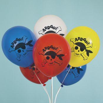 8 ballons pirate couleur