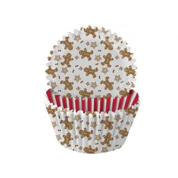 75 Caissettes à cupcakes gingerbread